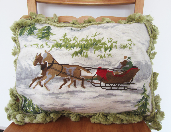 Italy Pure Cashmere Wool Hand Embroidered Pillow Cushion Lumbar New Year Fancy Holiday Gifts Home Decor