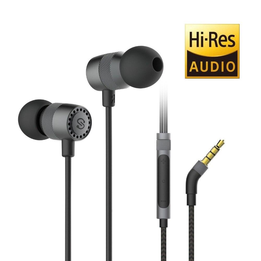 Soundpeats oi res áudio estéreo baixo fone de ouvido 3.5mm jack com fio fones handfree fone para xiaomi iphone fone ouvido
