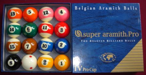 Aramith TV Pro Cup Billiard Ball For Pool Table, Belgium Aramtih