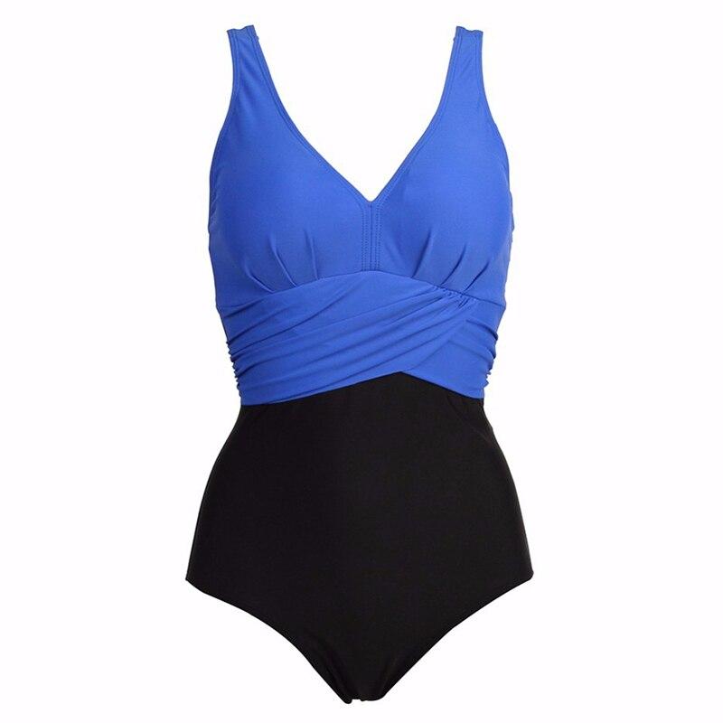 NAKIAEOI Plus Size Swimwear Women One Piece Swimsuit 2018 Hot Swim Bodysuit Badpak Beachwear Retro Vintage Bathing Suit Wear 4XL 5