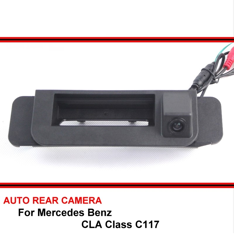 Para Mercedes Benz CLA clase C117 2015 2016 vista trasera de coche cámara trasera Auto marcha atrás aparcamiento visión nocturna impermeable HD