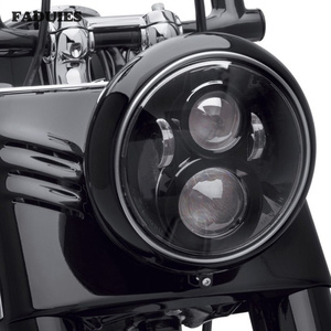 Image 1 - 7 Inch LED Headlight For Harley Motorcycle Tour FLD  Softail Heritage Street Glide Road King Electra Glide for Jeep Wrangler