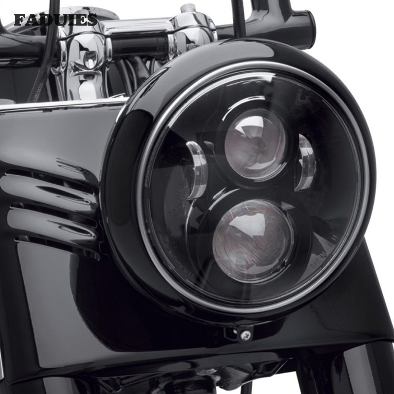7Inch  LED Headlight for Harley Motorcycle TourFLDSoftail HeritageStreet GlideRoad KingElectra Glide for Jeep Wrangler