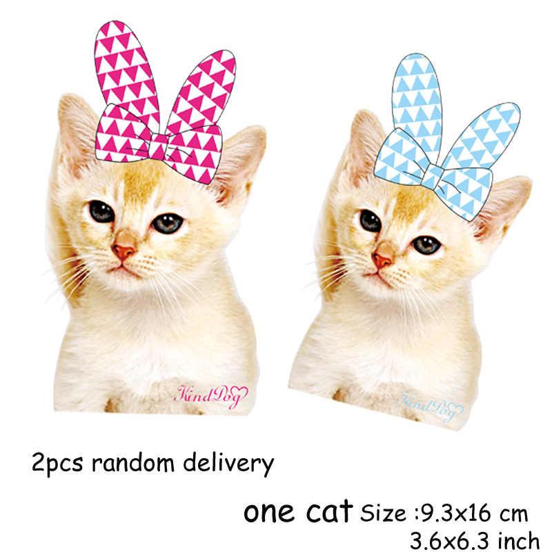 Гладильная переводная нашивка милые наклейки для кошек животное термопресс заплатка DIY аппликации для пальто родитель-ребенок Parches Ropa Plancha