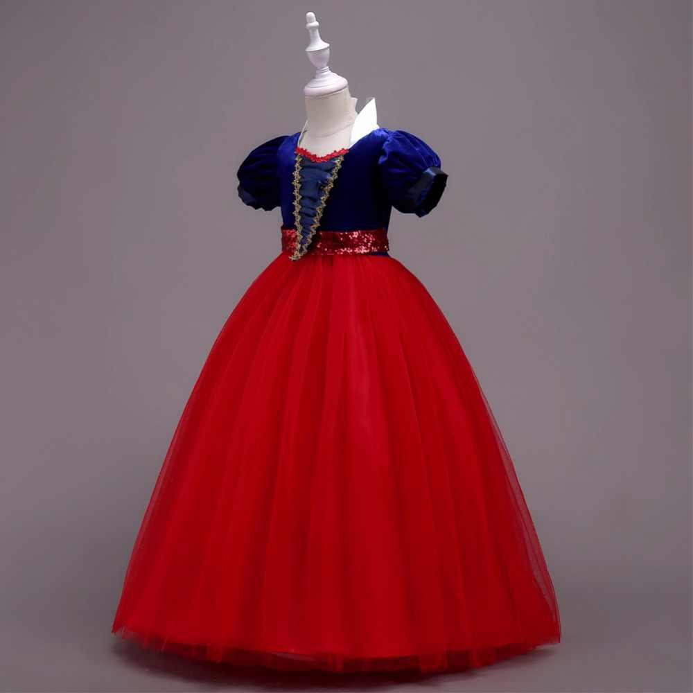 ANGELSBRIDEP קצר SleeveFlower ילדה שמלות קשת סרט Tull נסיכת שמלה לנשף לילדים ילדים בנות ערב כדור שמלות