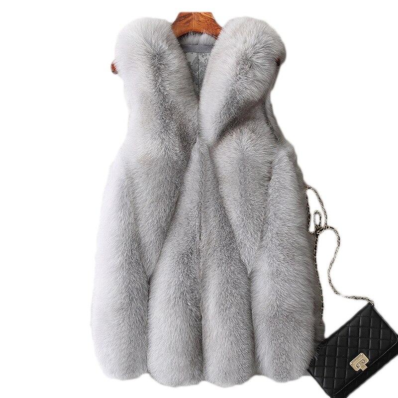 Moda inverno manteau femme hiver casacos de pele quente do falso casaco básico casaco feminino colete roupas harajuku raposa mex vintage