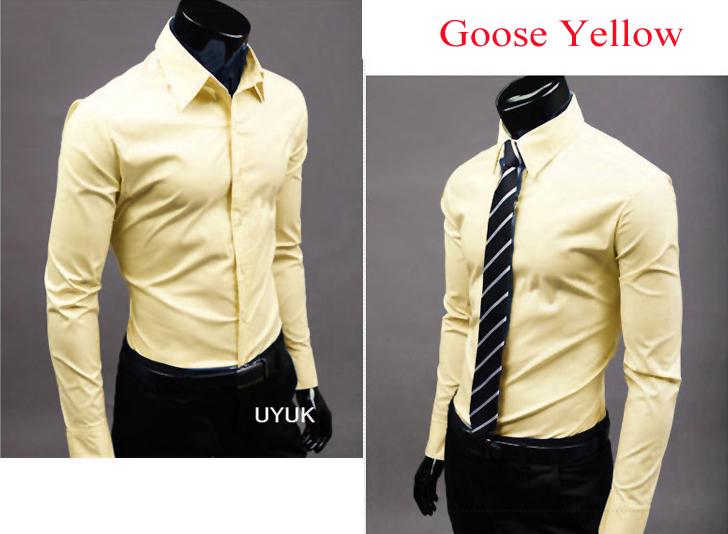 Yellow color dress shirts