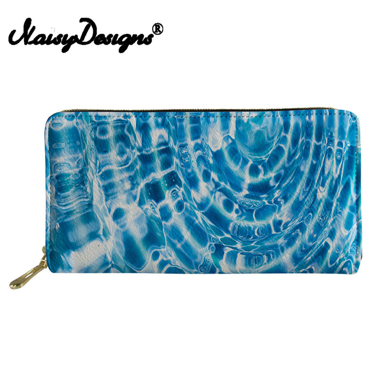 Noisydesigns Coin Holders for Women Men Travel Purse and Wallet Portable Long Mini Slim Rfid Wallets Drop Prints Men Purse canta