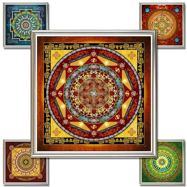 Thangka Mandala Buddha Painting Spiritual Tibetanos Pinturas - Pinturas-de-mandalas