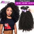 Allove Hair 7A Brazilian Curly Virgin Hair 3PCS Cheap Brazilian Virgin Hair Weave Bundles Ali Brazilian Kinky Curly Virgin Hair