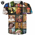 2017 New fashion Funny t shirts Nicolas Cage Rage Summer men 3d t shirt graphics short sleeve tees top womens men anime stars