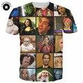 2017 Nova moda camisas Engraçadas de t Nicolas Cage Rage homens Verão camisa 3d t gráficos de manga curta t-shirt top das mulheres dos homens de anime estrelas