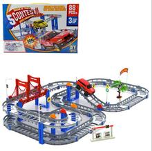 Large size Multilayer rail car toy /electric train track toys children's educational toys birthday gift