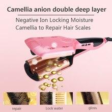 מקצועי 26/32mm גל קרלינג ברזל קרמיקה שיער Curler עמוק גלי Curler LED טמפרטורת שיער שלושה צינור שיער Curler רולר
