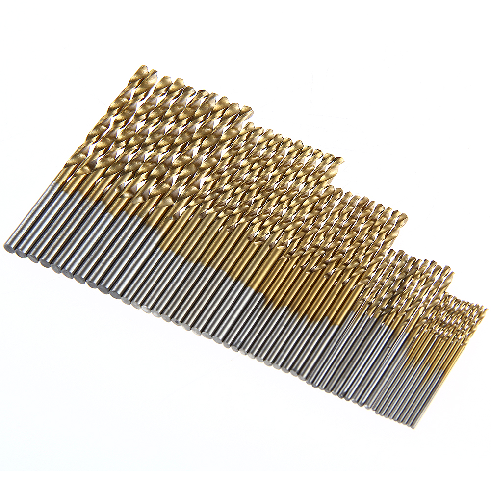 50Pcs HSS Micro Twist Drill Metric HSS Drills Micro Drill Bits Metal Wood Plastic Aluminum High Speed Steel Twist Drilling Kit new 10pcs jobbers mini micro hss twist drill bits 0 5 3mm for wood pcb presses drilling hobby tools