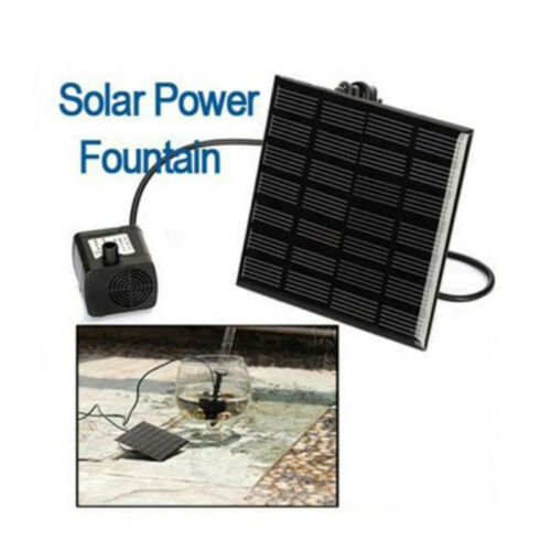 Mini Solar Power Wasserpumpe Teichpumpe Solarteichpumpe Gartenpumpe Pump Kit Set
