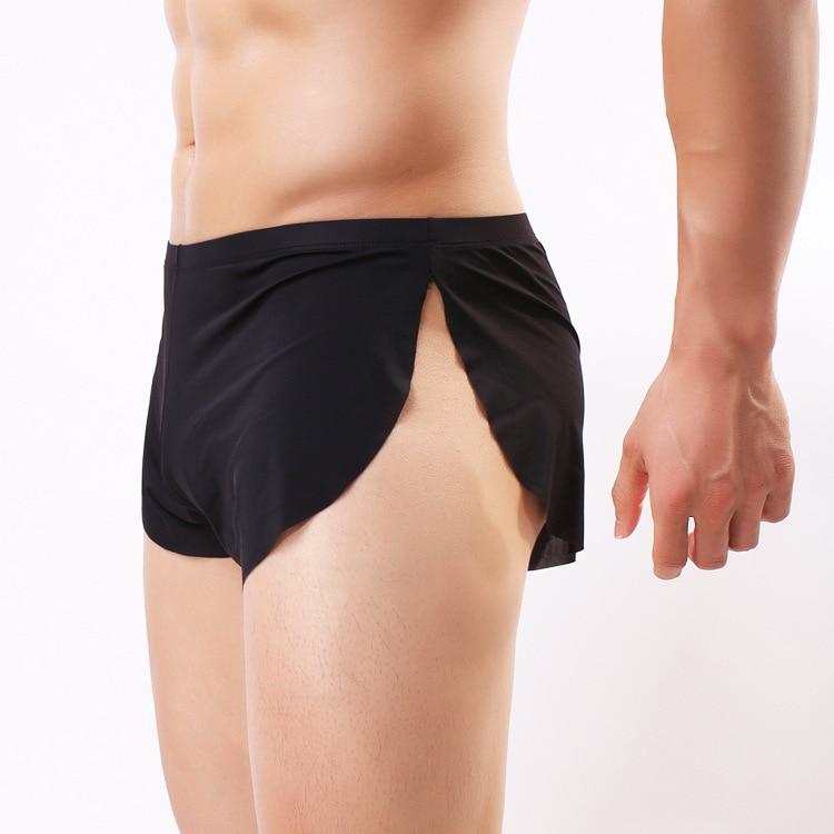 Men's Sports Underwear Beach Shorts Ice Split Breathable Men's And Women's Sports Briefs Knickers
