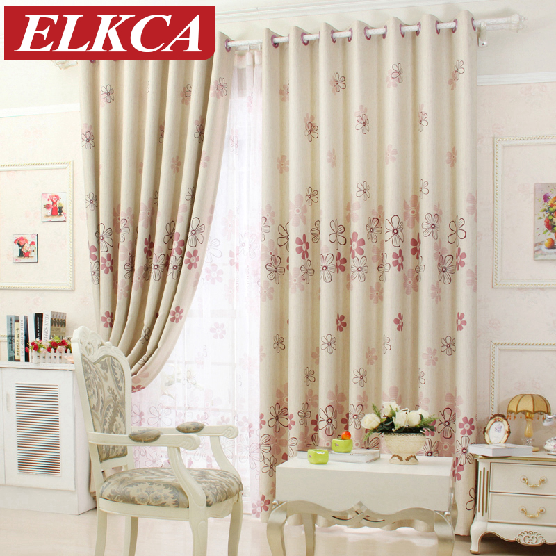 Modern Curtains Floral Blackout Curtains For Living Room