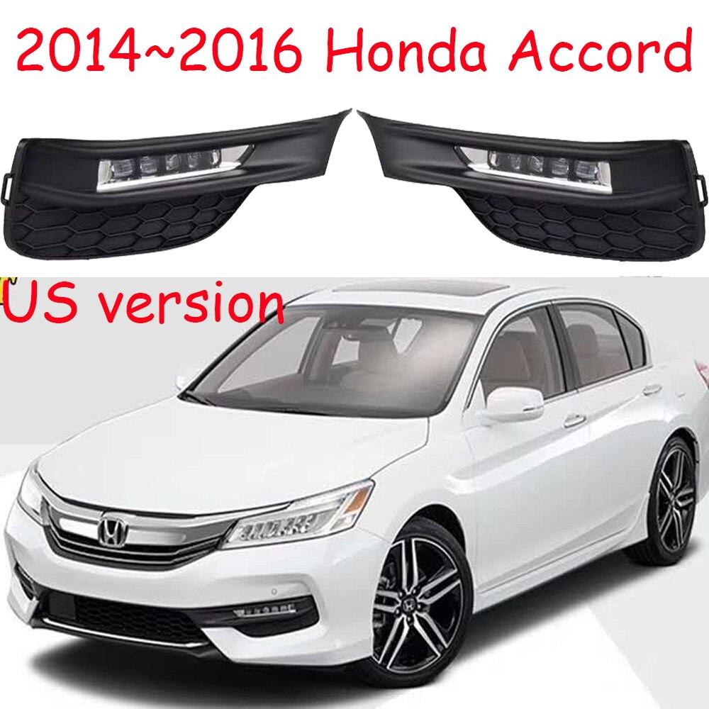 Version US 1set phare de pare-chocs de voiture pour Honda Accord feux de jour LED DRL phare pour Accord feu de brouillard