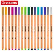 1 stücke Deutschland STABILO 88 Faser Stift Schwan Skizze Farbe Haken Linie Stift Farbe Einzigen 24 Farbe Auswahl Metall Nib sechseckigen Stift Stange