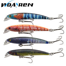 WDAIREN – leurre méné coudé en forme d'œil 3D, appât artificiel idéal pour la pêche en mer, à la manivelle, 4 couleurs, 5.6g, 7.5cm, 1 pièces, FA-386