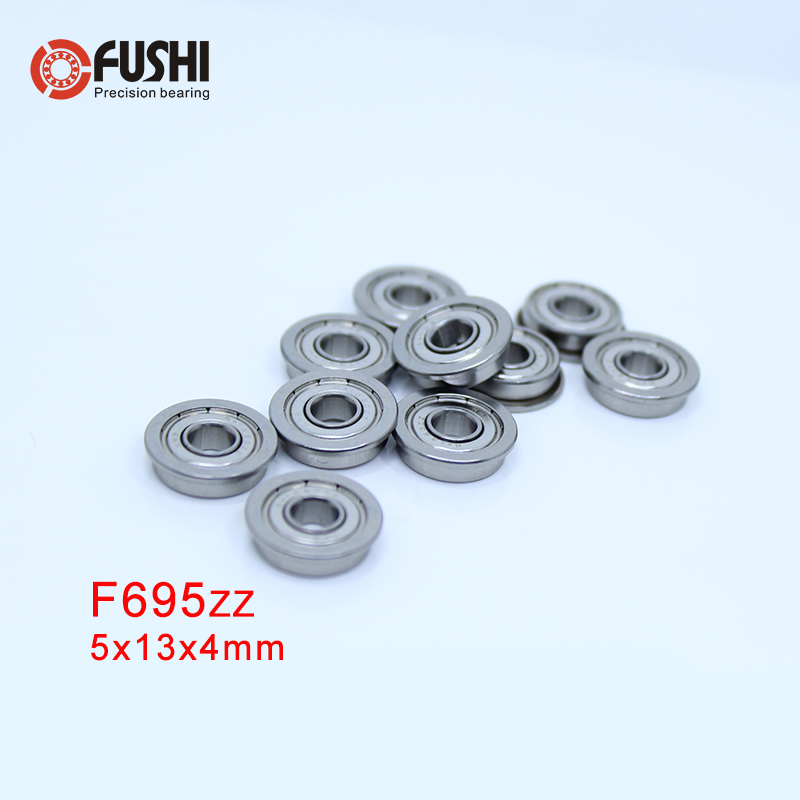 F695ZZ Flange Bearing  5x13x4 Mm ABEC-1 ( 10 PCS )  Flanged F695 Z Z Ball Bearings F619/5ZZ
