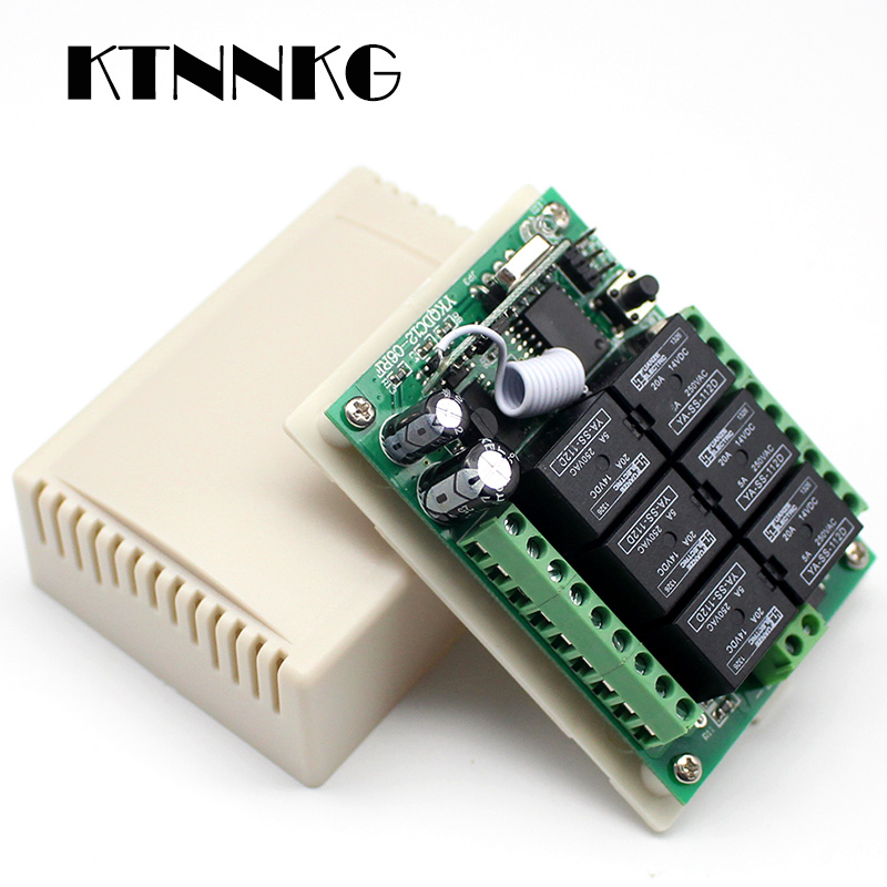 24V 1-CH Relay Switch 433M Module 2-Button 15-1000m Controller Learning Type