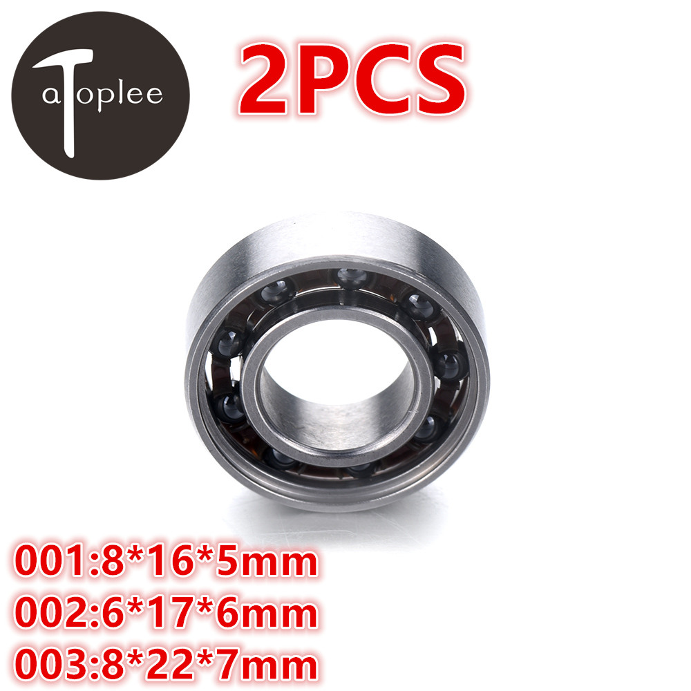 2pcs 688 Mixed Ceramic Bearings 8*16*5mm 6*17*6mm 8*22*7mm 420 Stainless Steel For Fingertip Gyroscope Toys Gyro Bearings цены