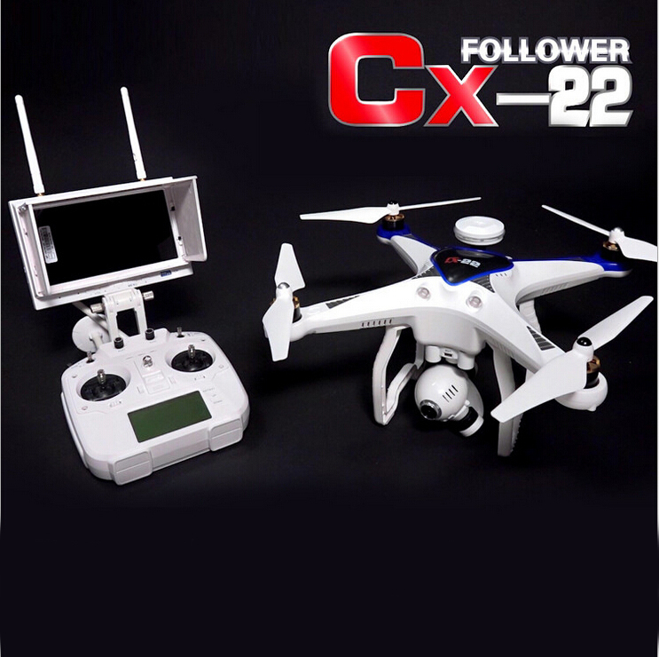 Cheerson CX-22 CX22 Follower 5.8G FPV 1080P Camera Dual GPS RC Quadcopter Brushless Gimbal Circle Hovering UFO RTF f09166 10 10pcs cx 20 007 receiver board for cheerson cx 20 cx20 rc quadcopter parts