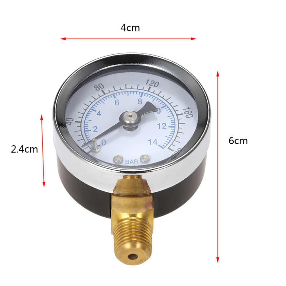 """2018 nuevo 40mm 0 200200psi 0 1414bar Filtro de piscina Dial de presión de agua medidor de presión hidráulica manómetro 1/8 """"NPT hilo caliente"""