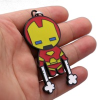 Julie 12 Pçs/lote Keychain Da Liga Novo Design Super Herói Homem De Ferro Superman Caráter Modelo Anel Chave Para Os Fãs do Filme Jóias Llavero