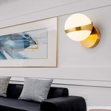 Design Glass Wall Lamp Sconce Modern Bedroom Kitchen Stair Living Room Wall Lights Decor Home Lighting