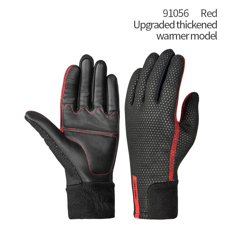 ROCKBROS Cycling Winter Gloves Shockproof Wear Resistant SBR Full Finger Warm
