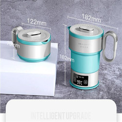 100-240V Folding Type Travel Electric Kettle Portable Kettle Mini 0.6L High Quality Portable Boiling Kettle For Gift