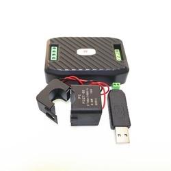 AC jednofazowy Watt licznik energii z podział CT i USB RS485 Modbus 220 V 100A napięcie prądu częstotliwości zasilania współczynnik Kwh miernik w Liczniki energii od Narzędzia na