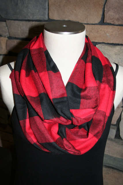 2e5be0e8a5467 Online Shop Red Plaid Infinity Scarf Cashmere Red and Black Plaid Scarf Red  and Black Lumberjack Check Mens Scarf Winter Womens Accessories