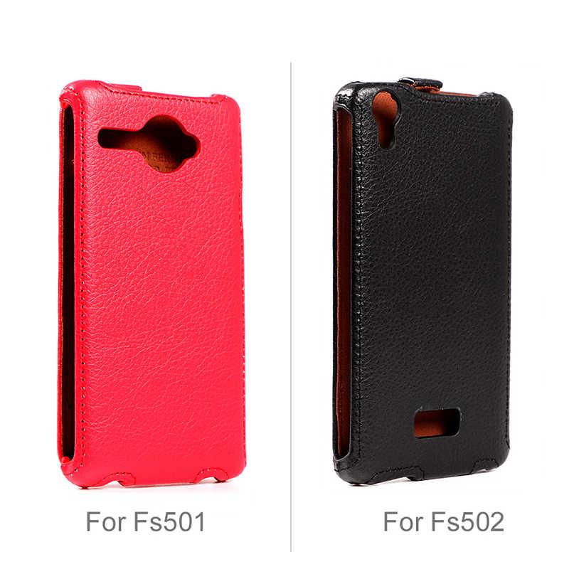 Зарядное устройство Ferising для Fly FS504 FS501 FS502 IQ4413 чехол Кожаный чехол-портмоне с откидной крышкой С Откидывающейся Крышкой из зернистой чехол для телефона с узором Чехлы для мобильных телефонов сумка P007