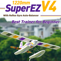 FMS 1220mm Super EZ V4 Trainer Beginner RC Airplane with Gyro 4CH 3S Floats optional PNP Water Sea Plane Hobby Model Aircraft