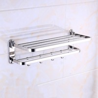 Stainless Steel Toilet Bathroom Washroom Towel Rack Soap Sponge Holder Wall Mounted Storage Hook Rod Rack Holder Hanging Bar