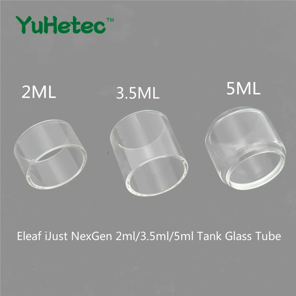 2PCS Original YUHETEC Replacement Glass TUBE For Eleaf IJust NexGen 2ml/3.5ml/5ml Tank