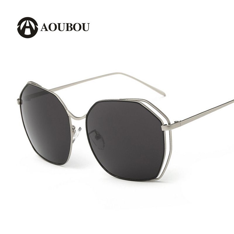 AOUBOU Vintage Metal Hollow Butterfly Sunglasses Women Brand Designer Mirror Sun Glasses Women Oculos De Sol Feminino 6173