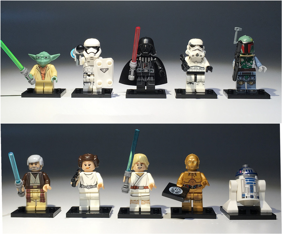 10pieces a lot 3.5-4.5cm star wars r2-d2 c-3po yoda vader PVC Action figure toys Adorable Collectible Model For Children Gift
