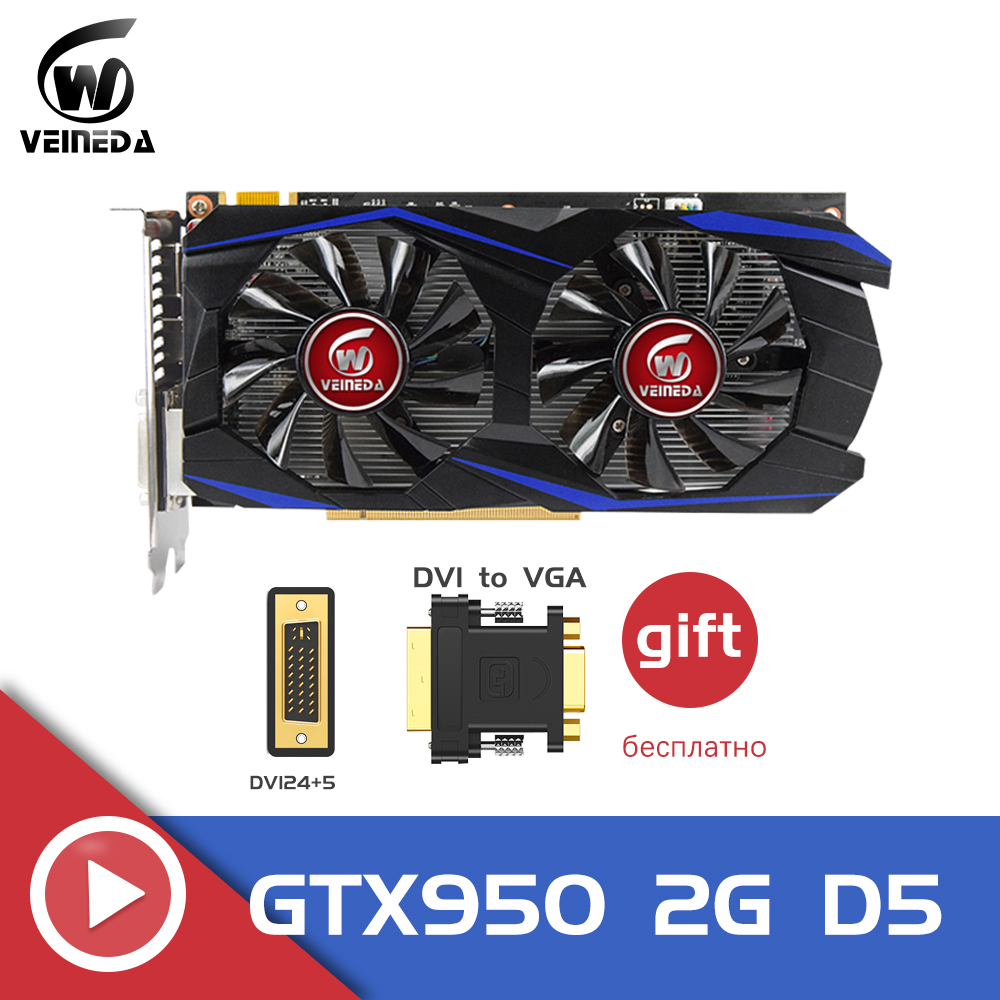 Video Card Original Gtx 950 2GB 128Bit GDDR5 Graphics Card For NVIDIA Geforce GTX 950 Hdmi Dvi VGA Card
