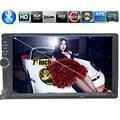 7 дюймов 2 DIN С Сенсорным Экраном Универсальный В Тире Автомобильный Радиоприемник стерео Головное устройство MP5 MP4 MP3 bluetooth Видео Громкой Связи TF/USB для Samsung