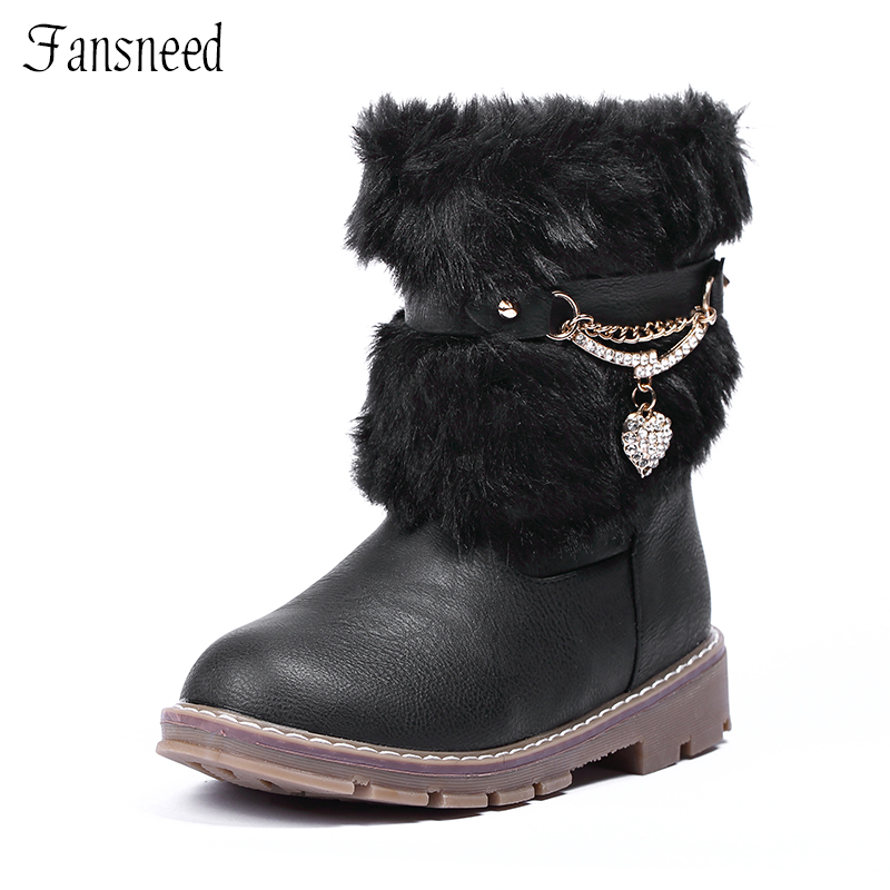 2017 new winter boots Korean version of the rabbit children girls boots non-slip snow boots warm big virgin girls boots