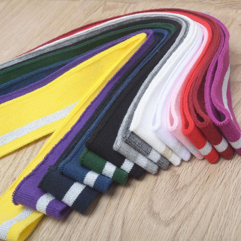 1pc Striped Cotton Rib Fabric DIY Cloth Accessories Collar Cuffs Hem Bottom Collar Thread Mouth Fabric