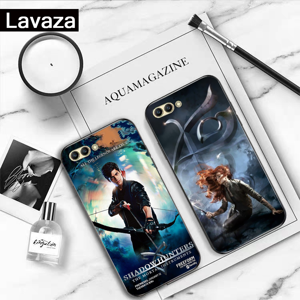 Lavaza American Tv Series Shadowhunters Silicone Case for Huawei Honor 6A 7A 3GB Pro 7X 8 Lite 8X 8C 9 Note 10View 20 9X in Fitted Cases from Cellphones Telecommunications
