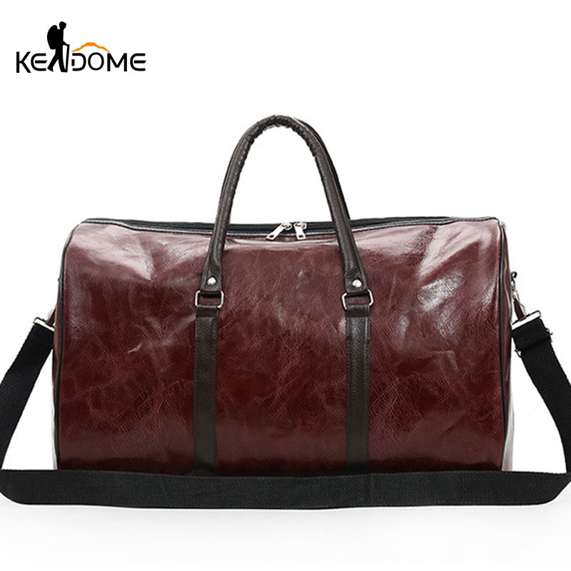 PU Leather Gym Bags Large Capacity Travel Bag Stylish Women Handbag Men Training Duffel Bags Fitness Sports Bag Tote XA724WD