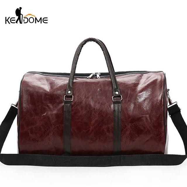 2ff27598fe54b PU skóra torby na siłownię torba podróżna o dużej pojemności stylowe  torebki damskie treningowe mężczyzn torby