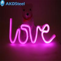 AKDSteel LOVE Letters Shape LED Light Wall Hanging Neon Light For Festival Party Wedding NewsYear Christmas